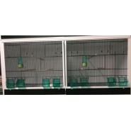 Cage-Batterie- d'élevage d`Oiseaux 120,50,50cm 2-BOX