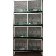 Batterie- d'élevage d'Oiseaux 120,50,50 cm 8 Box