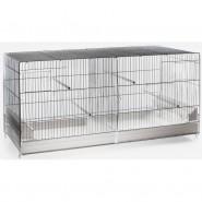 Cage-d'élevage Oiseaux zingué 120cm