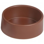 Grande mangeoire en plastic ronde brune