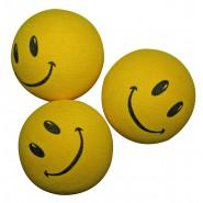 Balle Smile pour Chat Couleur Jaune 4,5 cm