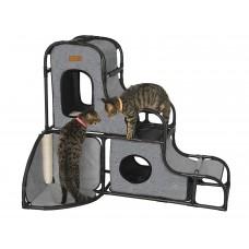 Parkour House Activité pour chats, XL, gris