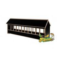 Mangeoire en bois avec toit pignon 90cm