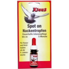 Spot On (gouttes pour la nuque oiseaux et pigeons- 5 mois 10ml - Klaus